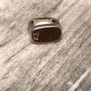 Silpada Sterling Silver and Wood Ring